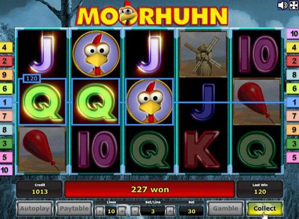 Обзор игрового автомата - Moorhuhn